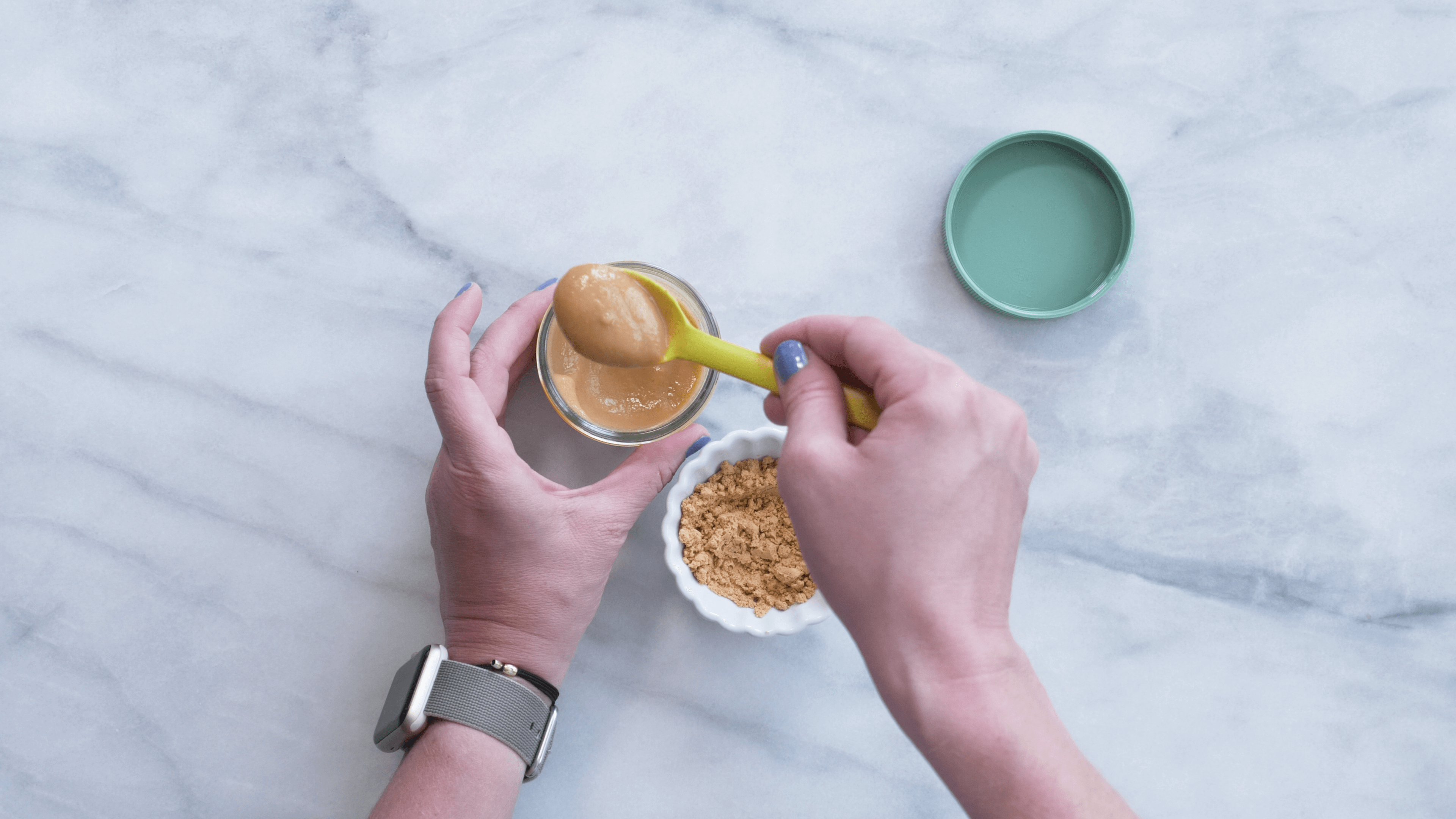 Add powdered peanut butter to puree. With the latest research suggesting early peanut introduction, we've rounded up 8 ways on how to feed peanut butter to baby.