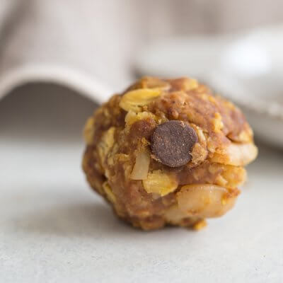 "Pumpkin Chocolate Chip Power Balls better known as ""cookies"" in our house are no bake whole food goodness and can be made gluten free and vegan."
