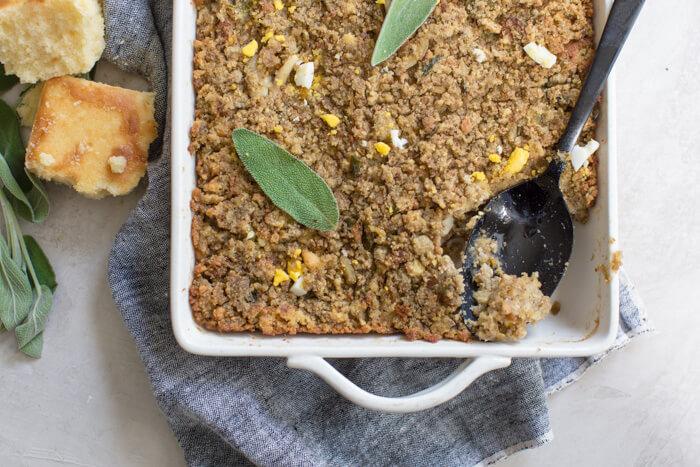 southern cornbread dressing hard boiled eggs Jiffy cornbread mix gluten free vegan stuffing recipe