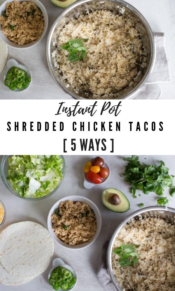 instant pot shredded chicken tacos chicken breast instant pot recipes