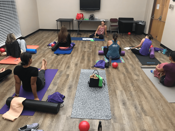 healing postpartum belly in group class