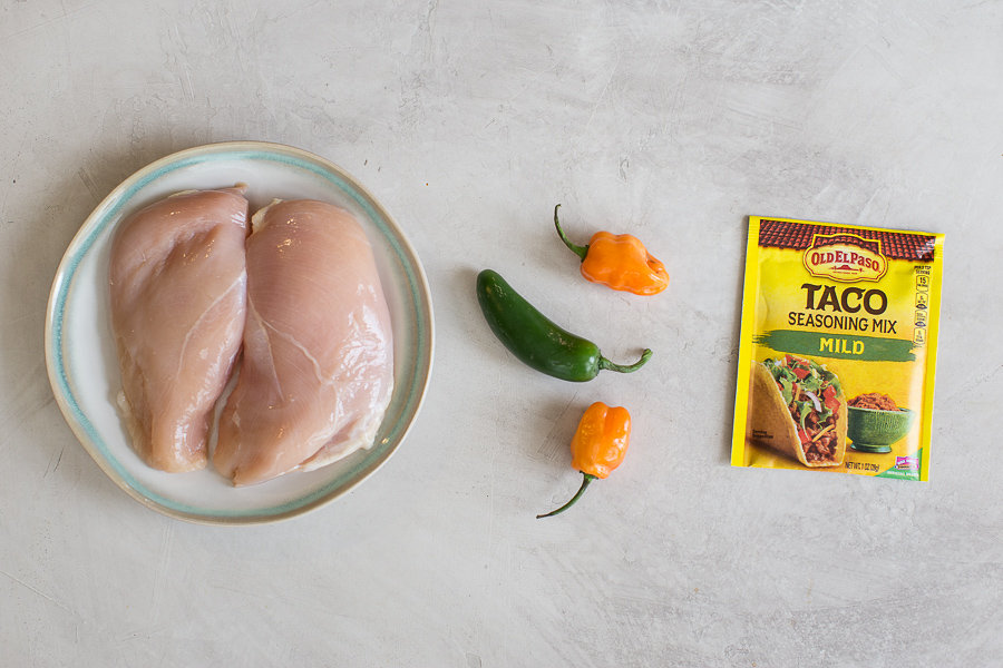 Instant Pot Chicken Tacos 5 ways! How to make instant pot shredded chicken tacos with taco seasoning coming in HOT! IP chicken breast recipes FTW.