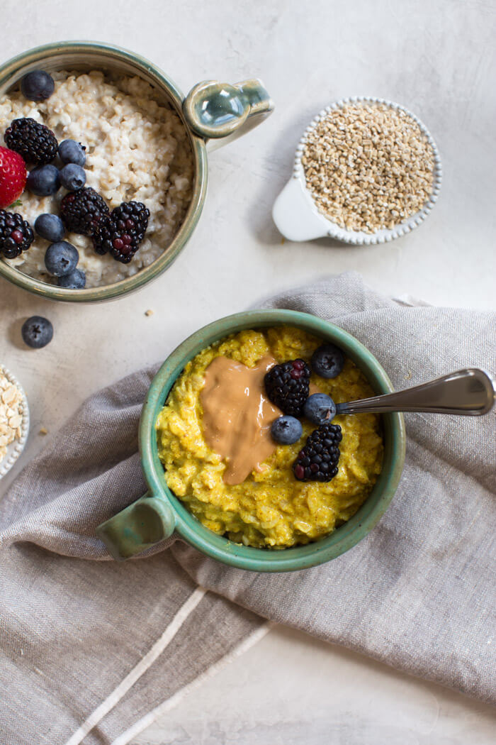 High Protein Breakfast Ideas Turmeric Oats With Cottage Cheese