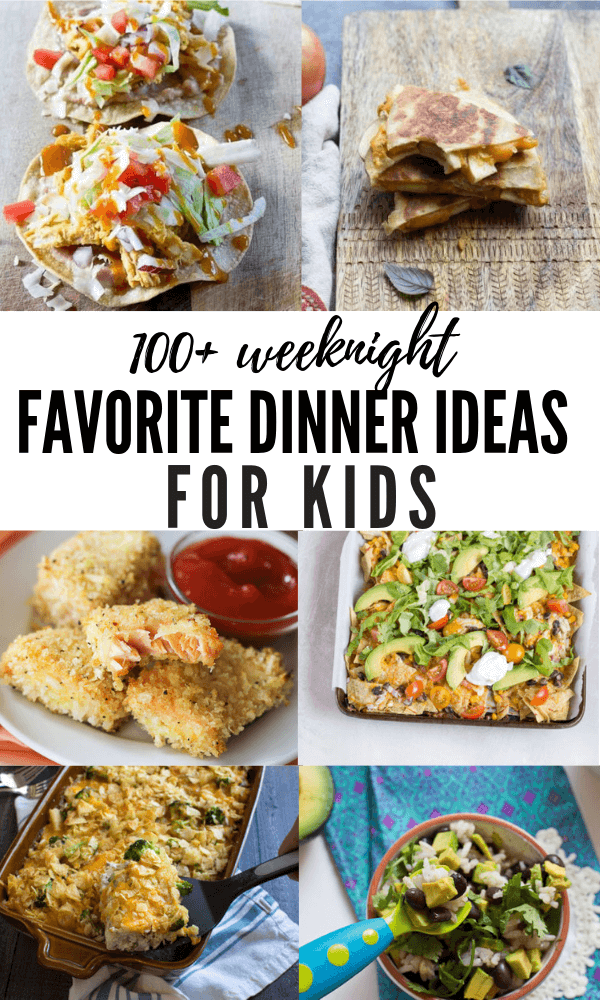 Looking for healthy dinner ideas for kids, including that picky eater toddler of yours? We've got you covered with this round up of kid friendly dinner ideas!