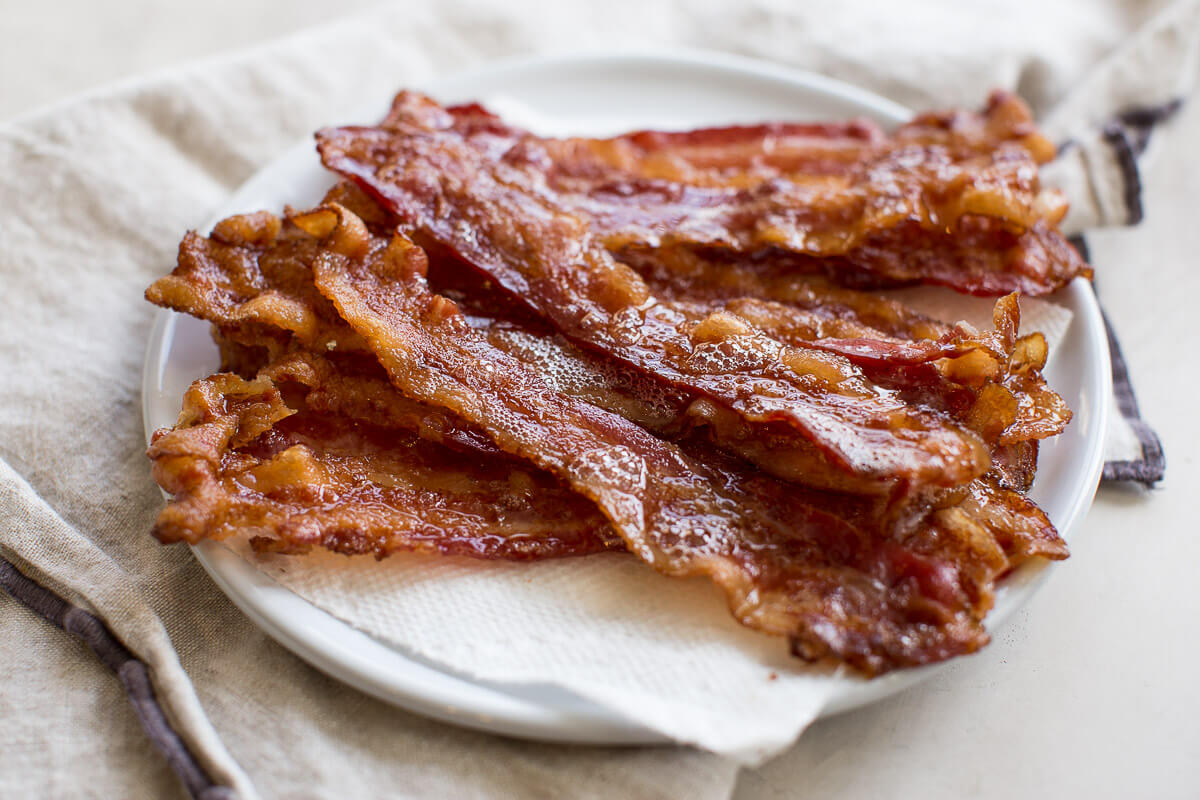 bacon grease on crispy baked bacon