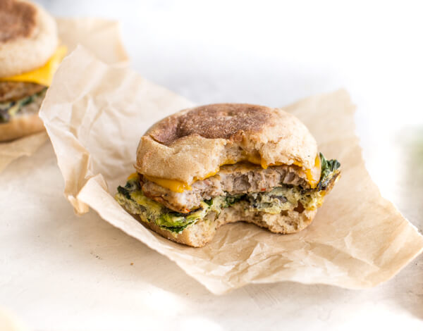 Freezer Breakfast Sandwiches that are healthy, loaded with veggies, and make an easy breakfast meal prep!