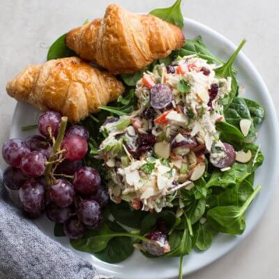 Greek Yogurt Chicken Salad with Grapes