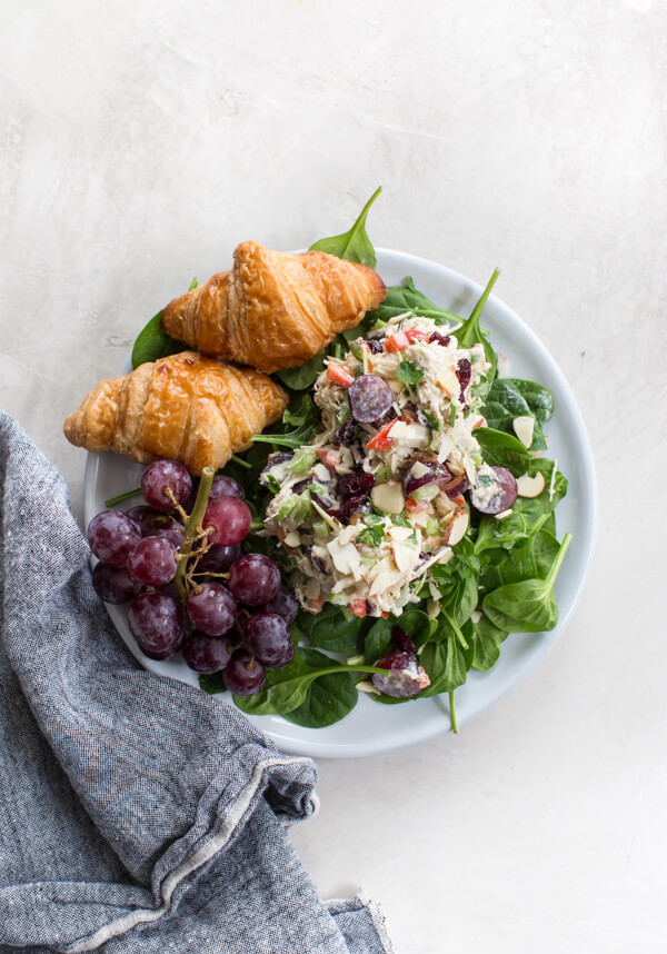 cranberry chicken salad with grapes