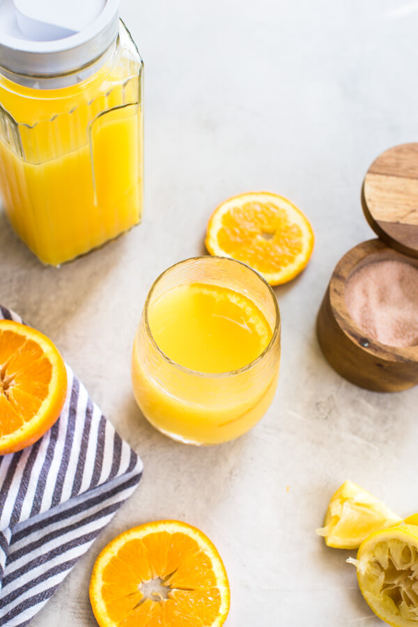 If you're looking for a homemade sports drink recipe for a natural electrolyte replacement, look no further than this beverage made with Florida Orange Juice. Good for hydrating all summer long.
