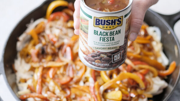 BUSH'S Black Bean Fiesta in Chicken Fajita Casserole