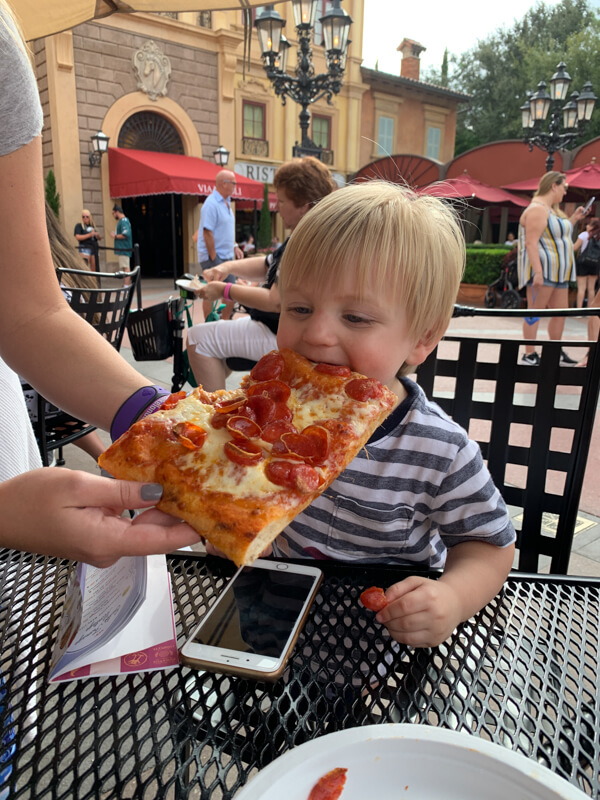 Epcot Pizza in Italy