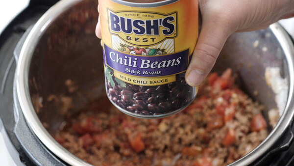 Bush's chili beans in stuffed pepper soup