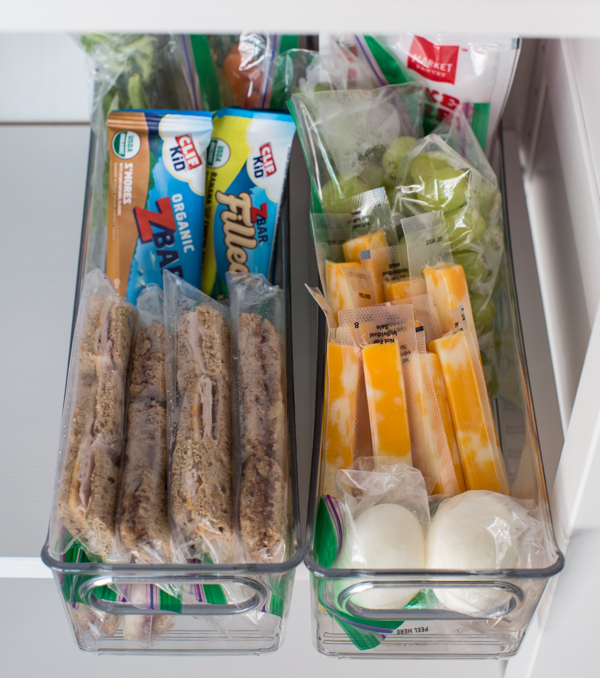 organized refrigerator for kids to eat healthy