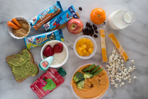 healthy snack ideas for kids. easy snacks to pack for school lunches and how to get kids to eat healthy.